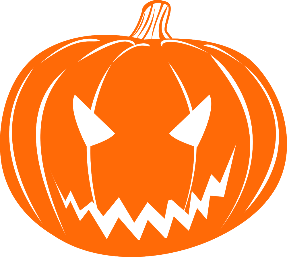 Scared pumpkin clipart image transparent download OnlineLabels Clip Art - Scary Jack-O-Lantern image transparent download