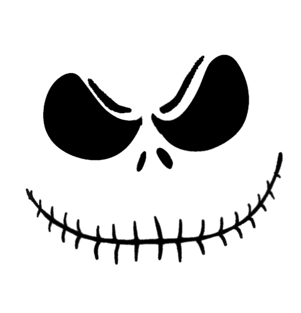 Jack pumpkin king halloween clipart graphic black and white stock Jack Skellington Pumpkin Stencil Pattern Could Totally Make This ... graphic black and white stock