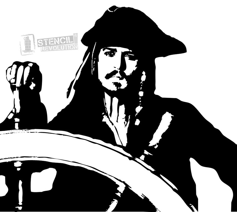 Jack sparrow clipart image royalty free library Jack Sparrow Stencils | fan girl coloring pages in 2019 ... image royalty free library