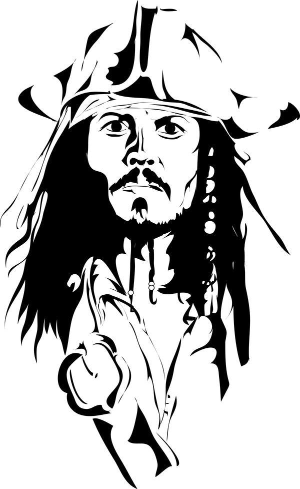 Jack sparrow clipart clip free stock Captain Jack Sparrow Clipart & Free Clip Art Images #32242 ... clip free stock
