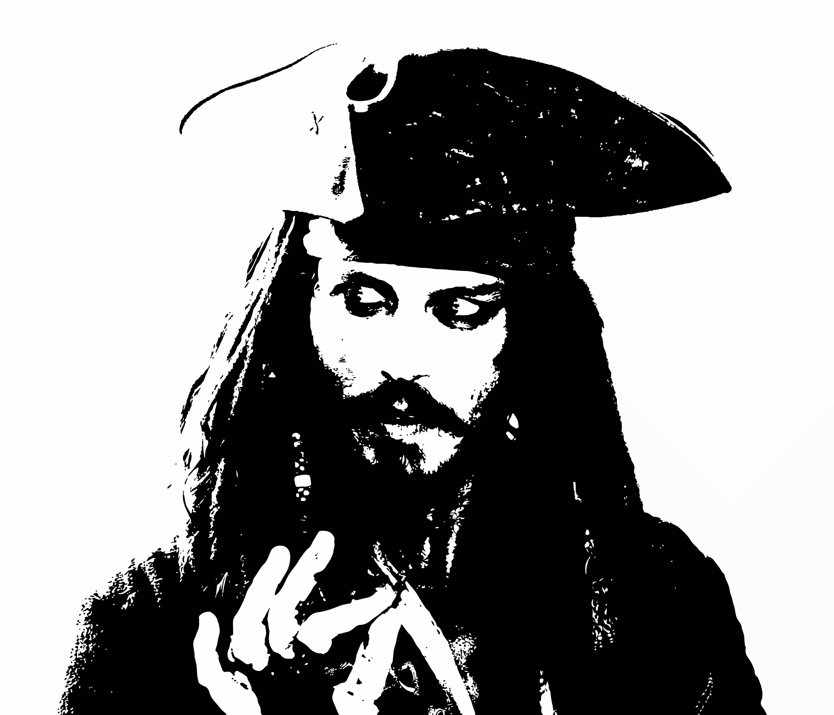 Jack sparrow clipart image download Jack Sparrow. (this would make a cool stencil.) | Pirates of ... image download