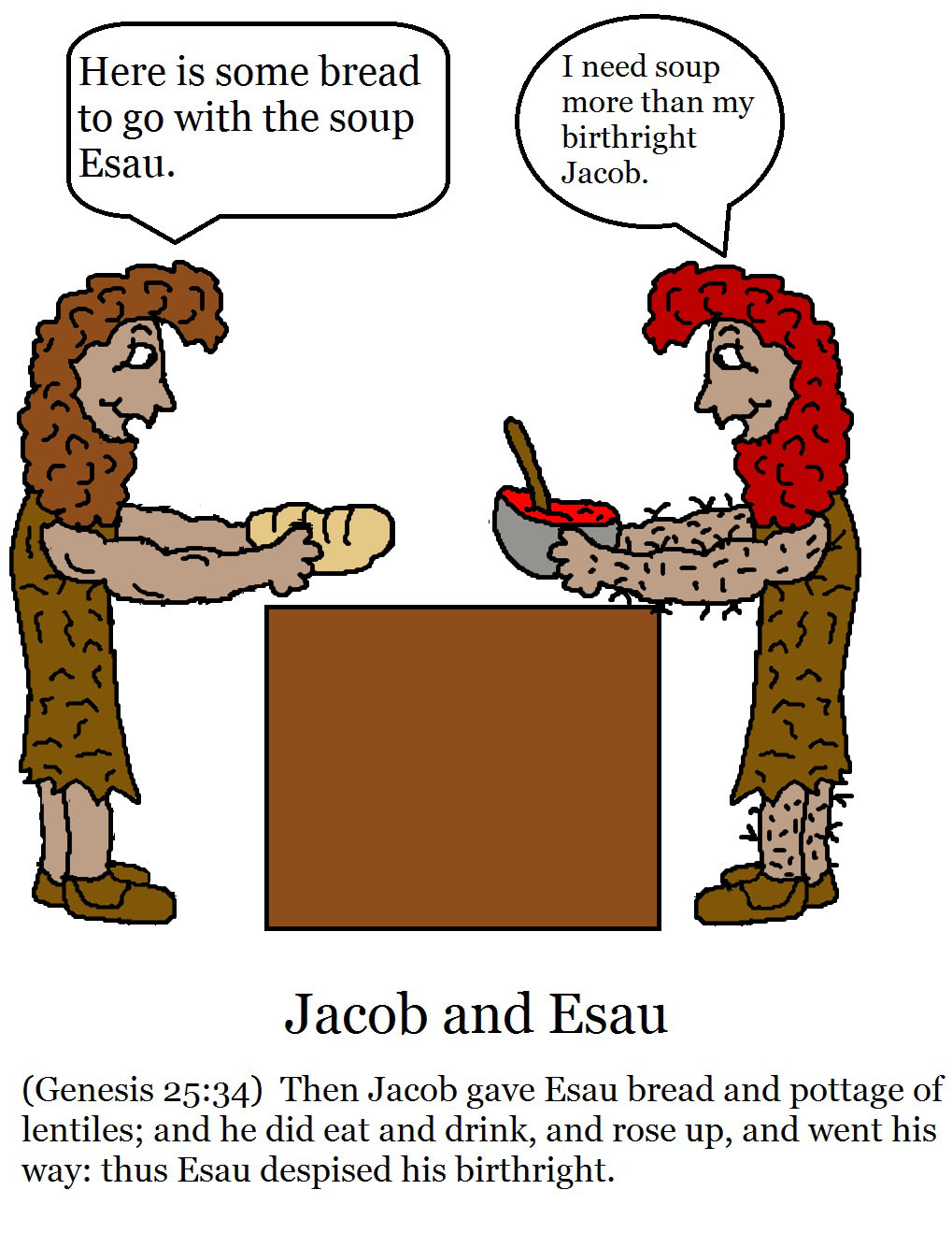 Jacob and esau clipart vector freeuse stock StoryTelling Pictures vector freeuse stock