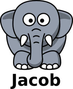 Jacob clipart vector freeuse library Jacob The Elephant Clip Art at Clker.com - vector clip art online ... vector freeuse library