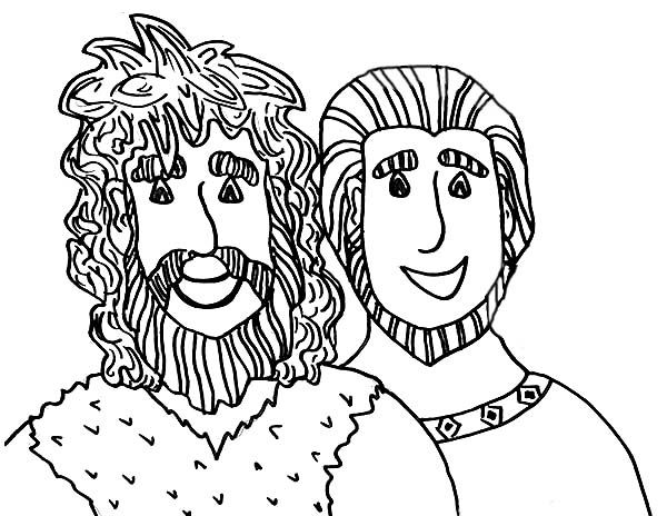Jacob esau clipart svg freeuse Picture of Jacob and Esau Coloring Page | OT to Moses | Pinterest ... svg freeuse