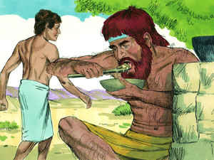 Jacob esau clipart graphic freeuse stock Trading Heaven for a Bowl of Stew - a Bible story about Jacob as ... graphic freeuse stock
