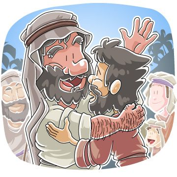 Jacob wrestles with god clipart transparent Meeting of Jacob and Esau | Jacob | Pinterest transparent
