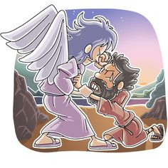 Jacob wrestles with god clipart freeuse Jacob wrestles with God | Bible - Games | Pinterest | Sunday ... freeuse