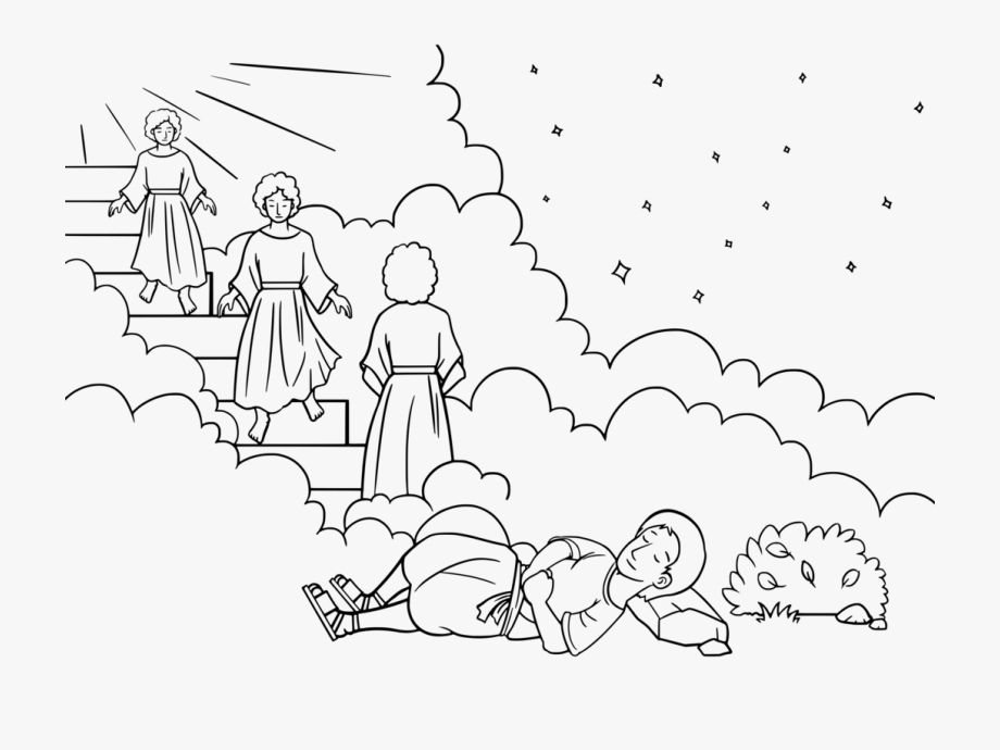 Jacob-s ladder clipart transparent library Bible Jacob\'s Ladder Coloring Book Jacob And Esau Dream ... transparent library