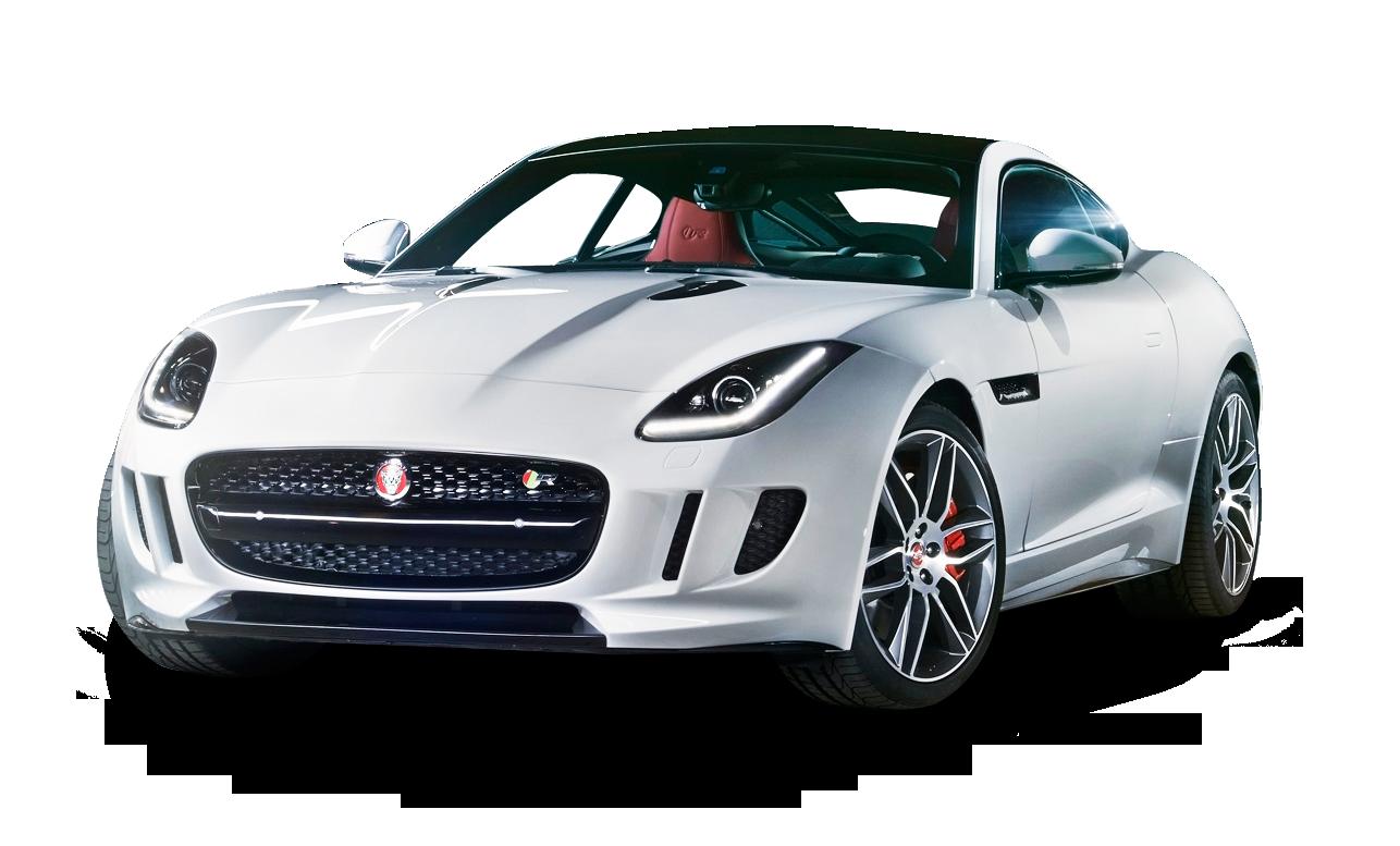 Jaguar car clipart image freeuse download Jaguar F TYPE White Car PNG Image - PurePNG | Free transparent CC0 ... image freeuse download