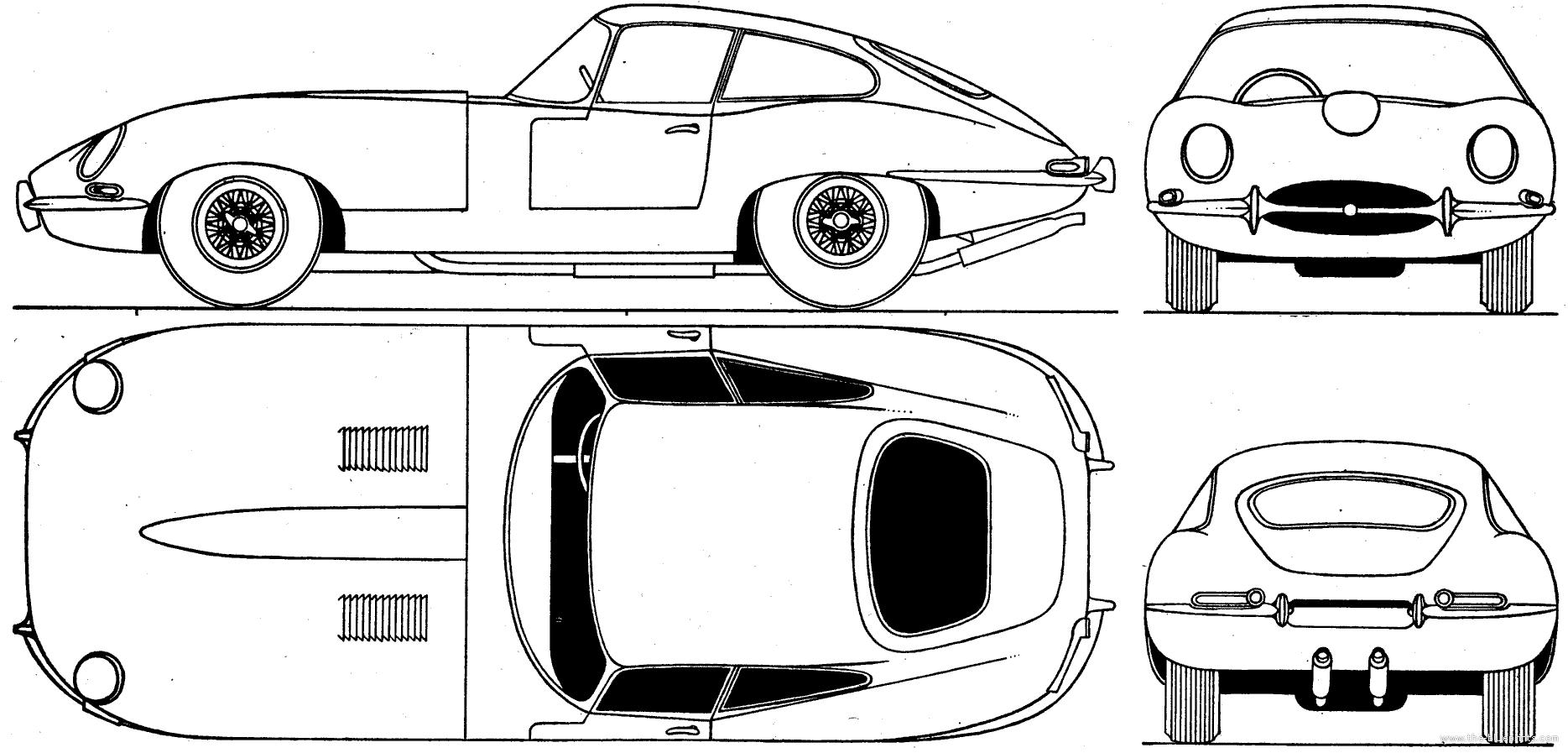 Jaguar e type clipart clip freeuse download Jaguar Car Drawing Jaguar e-type s1 coupe (1961) | Xiwang ... clip freeuse download