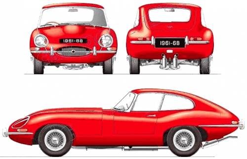 Jaguar e type clipart clip art freeuse Blueprints > Cars > Jaguar > Jaguar E-Type Coupe 4.2 Series ... clip art freeuse