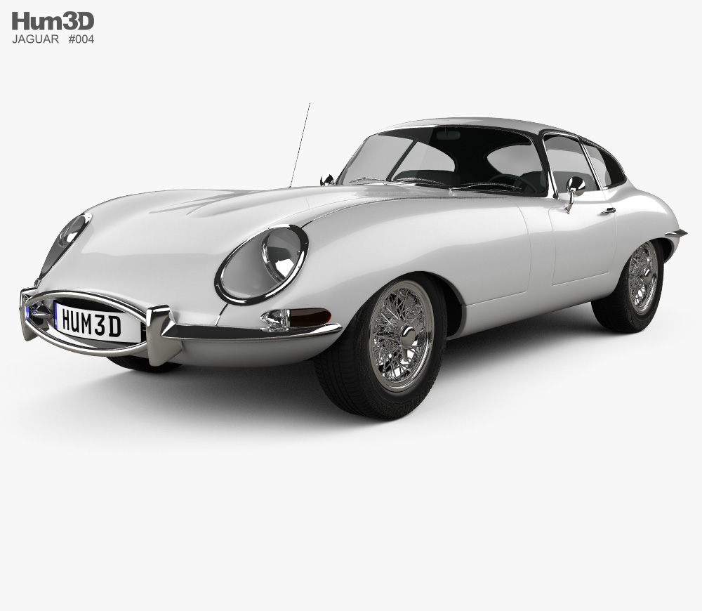Jaguar e type clipart svg free stock Jaguar E-type coupe 1961 3D model svg free stock
