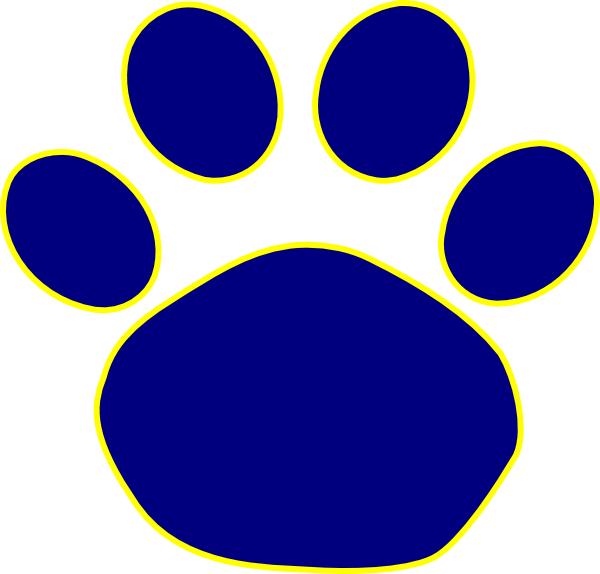 Jaguar football clipart banner black and white library Jaguar Paw Print In Gold Clip Art Vector Online clipart | Cub Scouts ... banner black and white library
