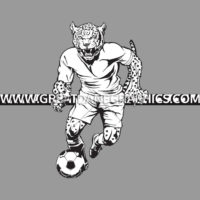 Jaguar football clipart banner download Soccer Mascot Jaguar | Production Ready Artwork for T-Shirt Printing banner download