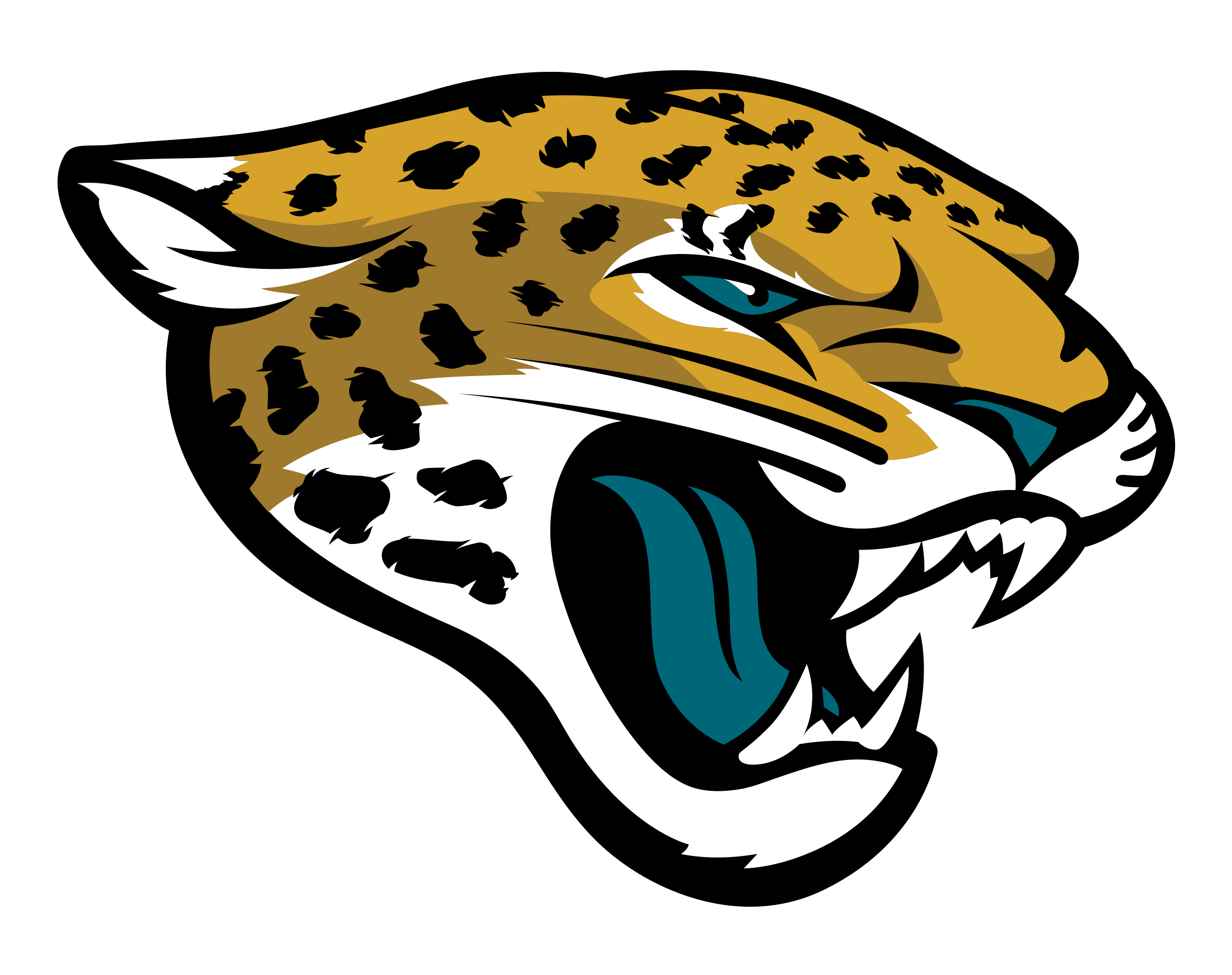 Jaguar football clipart clipart free download Jacksonville Jaguars Logo PNG Transparent & SVG Vector - Freebie Supply clipart free download
