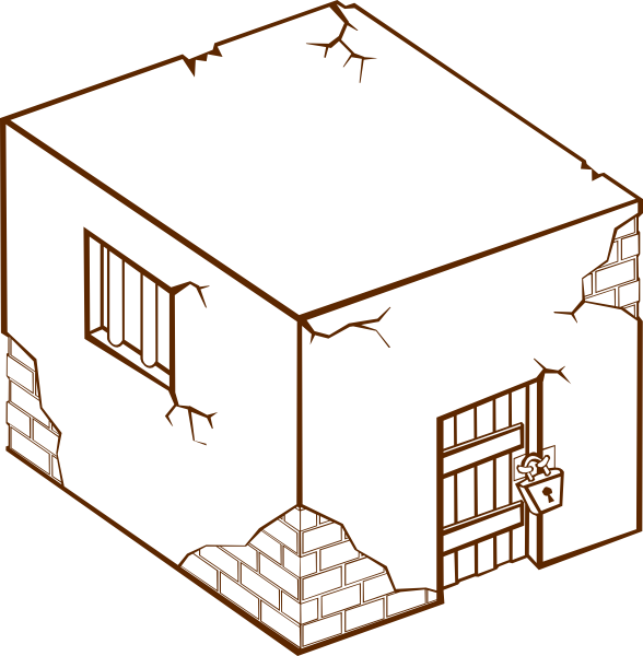 Jail house clipart banner black and white library Rpg Map Jailhouse Drawing Clip Art at Clker.com - vector clip art ... banner black and white library