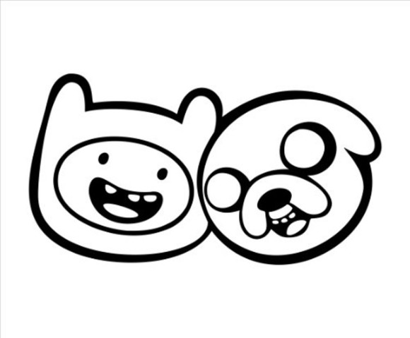 Jake the dog clipart clip black and white Draw Jake The Dog - ClipArt Best clip black and white