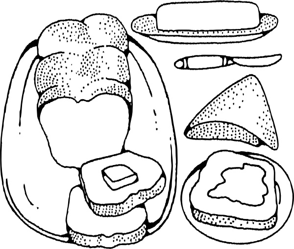 Jam and bread clipart black and white clipart black and white download Bread And Butter clip art Free vector in Open office drawing svg ... clipart black and white download
