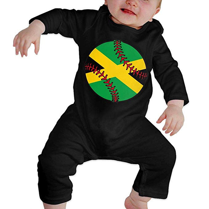 Jamaican images clipart image black and white stock Amazon.com: OPQRSTQ-O Jamaican Flag Baseball Clipart Baby Infant ... image black and white stock