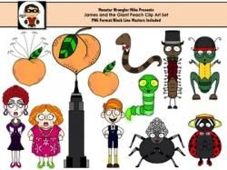 James clipart clipart black and white stock Clip art collection by. Characters clipart james and the giant peach ... clipart black and white stock