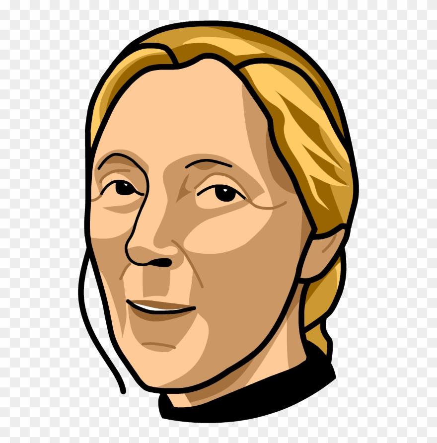 Jane goodall clipart clip art black and white download Jane Goodall - Illustration Clipart (#1068138) - PinClipart clip art black and white download