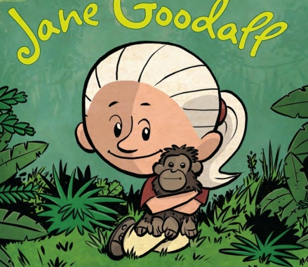 Jane goodall clipart black and white Jane Goodall, The Woman Who Loves Chimpanzees: A Reading List ... black and white