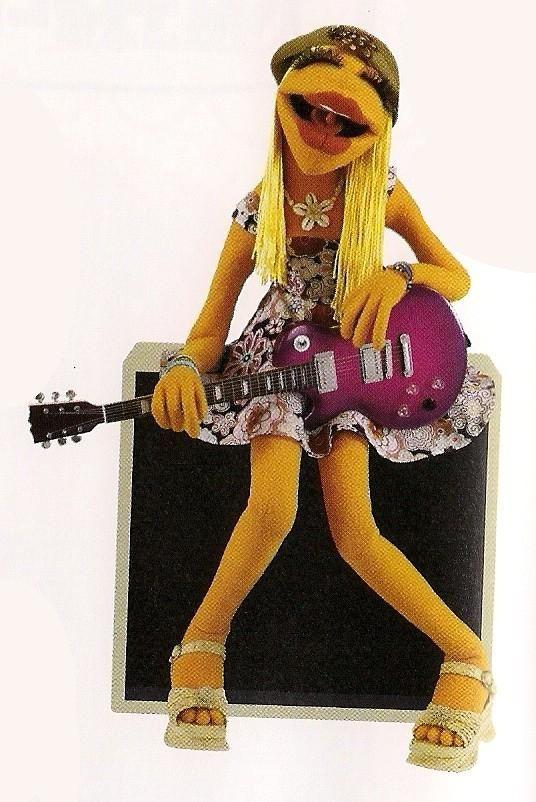 Janice rocker muppet black and white clipart vector Janice! An original girl-rocker. | Cinematic | Muppet babies, The ... vector