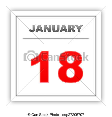 January 18th calendar clipart vector library download Stock Illustration of January 18. Day on the calendar. 3d ... vector library download