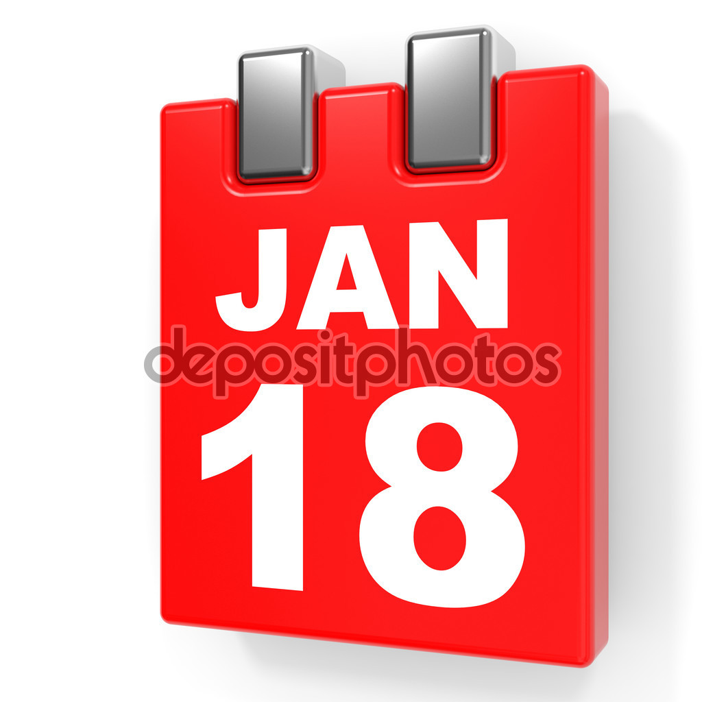 January 18th calendar clipart graphic free January 18. Calendar on white background. — Stock Photo ... graphic free