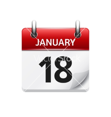 January 18th calendar clipart image transparent download January 18 flat daily calendar icon date vector by Tarchyshnik ... image transparent download