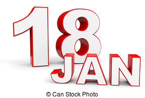 January 18th calendar clipart banner stock Calendar on white background 18 january Clipart and Stock ... banner stock