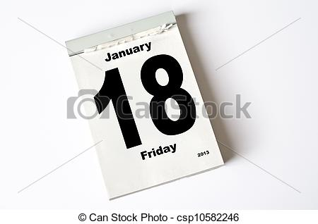 January 18th calendar clipart free library Stock Photo of 18. January 2013 - calendar sheet csp10582246 ... free library
