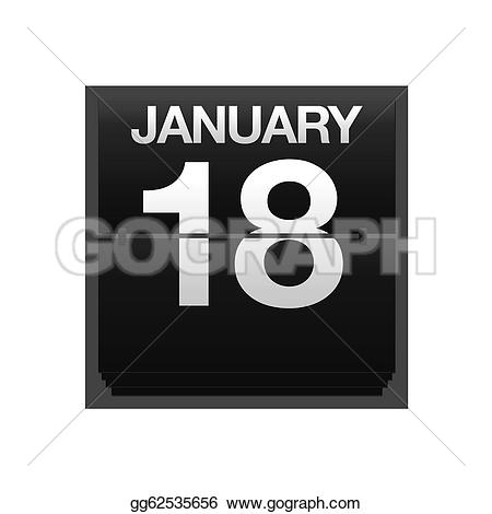 January 18th calendar clipart graphic library library Stock Illustration - Counter calendar january 18. Clipart ... graphic library library