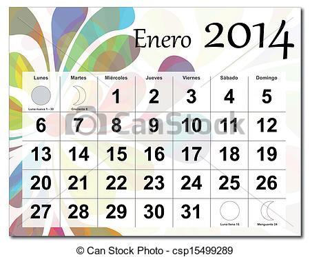 January 2014 calendar clipart clipart stock Vector of January 2014 calendar - Spanish version of January 2014 ... clipart stock
