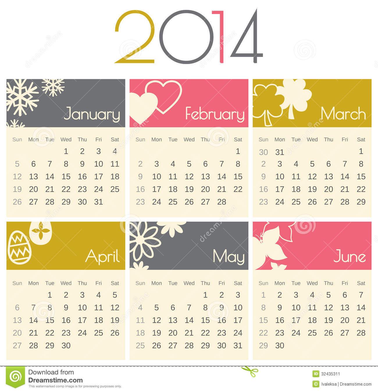 January 2014 calendar clipart jpg transparent stock 2014 Calendar Clipart - Clipart Kid jpg transparent stock