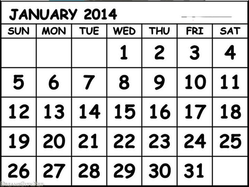 January 2014 calendar clipart vector freeuse january 2014 calendar | New All Photo vector freeuse