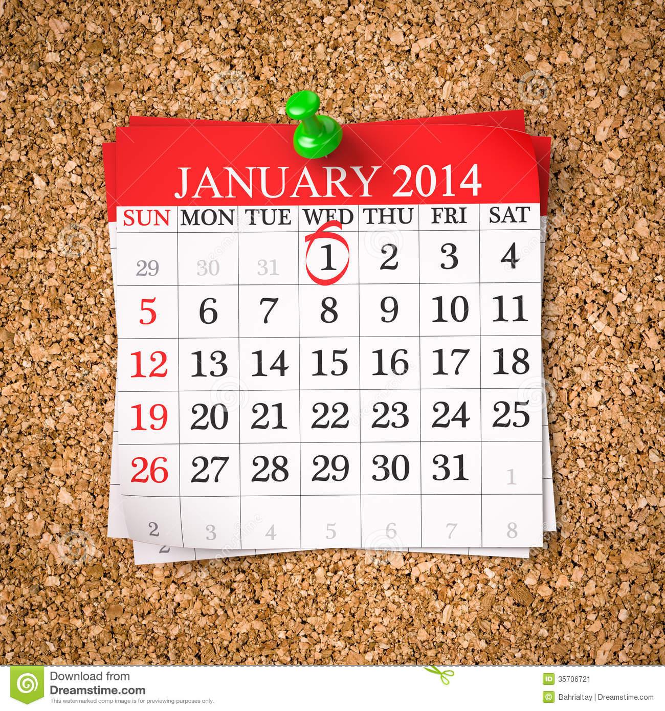 January 2014 calendar clipart png library Calendar clipart 2014 - ClipartFest png library