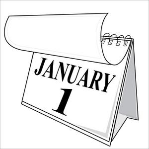 January 2015 calendar clipart clip free stock Black and white calendar clipart - ClipartFest clip free stock
