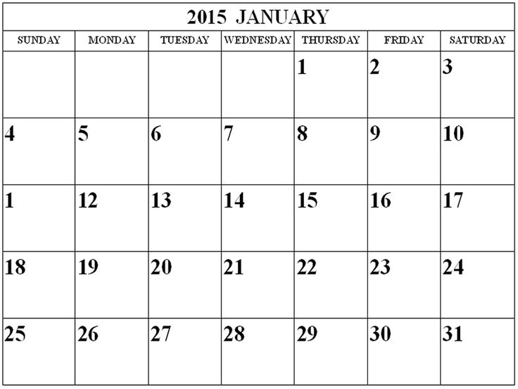 January 2015 calendar clipart picture royalty free stock 17 Best ideas about 2015 Calendar With Holidays on Pinterest ... picture royalty free stock