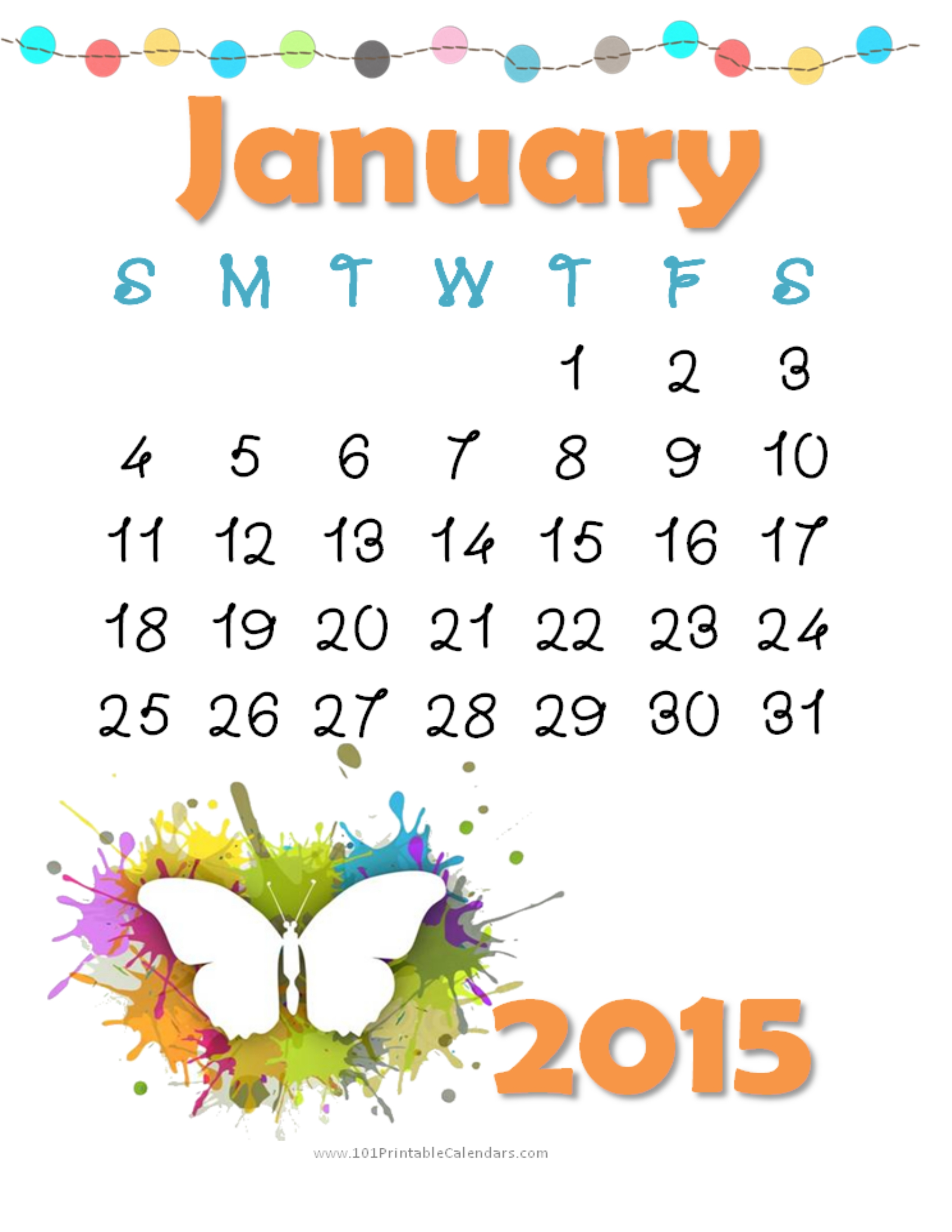 January 2015 calendar clipart picture download January 2015 Clipart - Clipart Kid picture download
