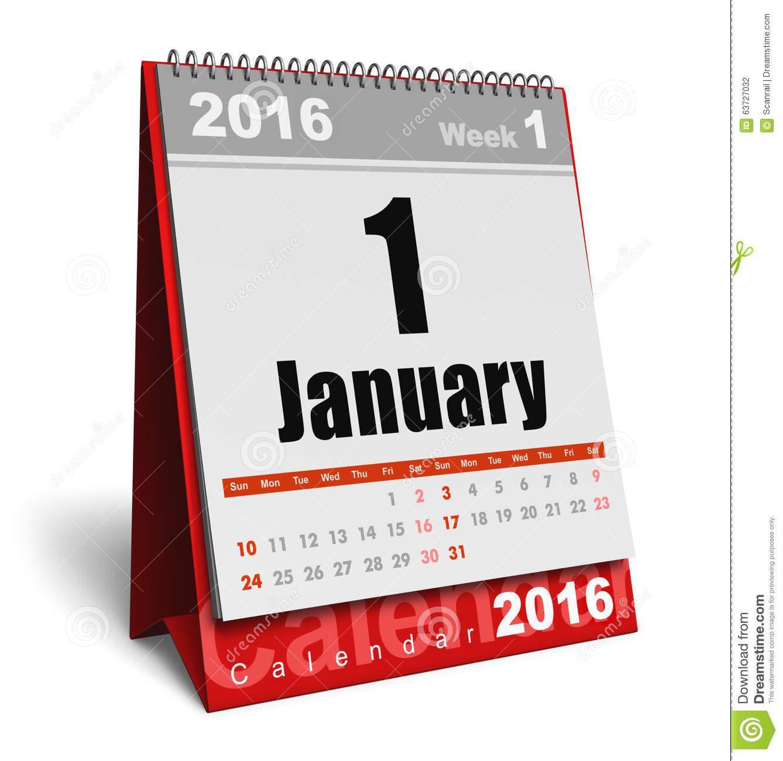 January 2016 calendar clipart jpg January 2016 Calendar Stock Illustration - Image: 63727032 jpg