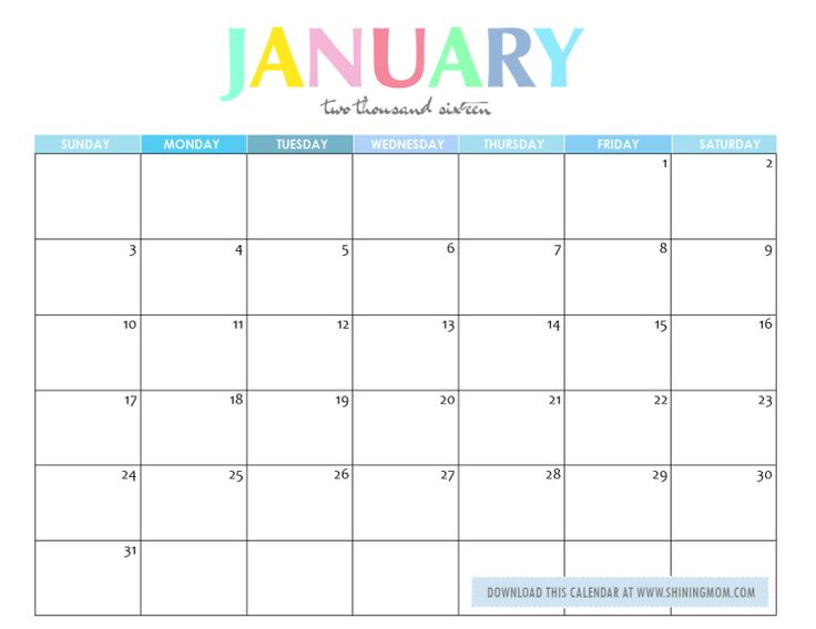 January 2016 calendar clipart picture transparent library January 2016 meal of the month clipart color free - ClipartFox picture transparent library