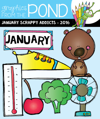 January 2016 clip art clip free stock Graphics From the Pond: New Sets and Clipart Addicts Freebie clip free stock