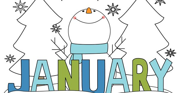 January 2016 month clipart clipart freeuse library Free Month Clip Art   Month of January Snowman Clip Art Image ... clipart freeuse library