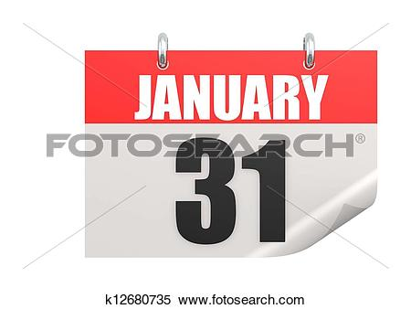 January 31 calendar clipart clipart download Stock Illustration of Calendar January 31 k12680735 - Search ... clipart download