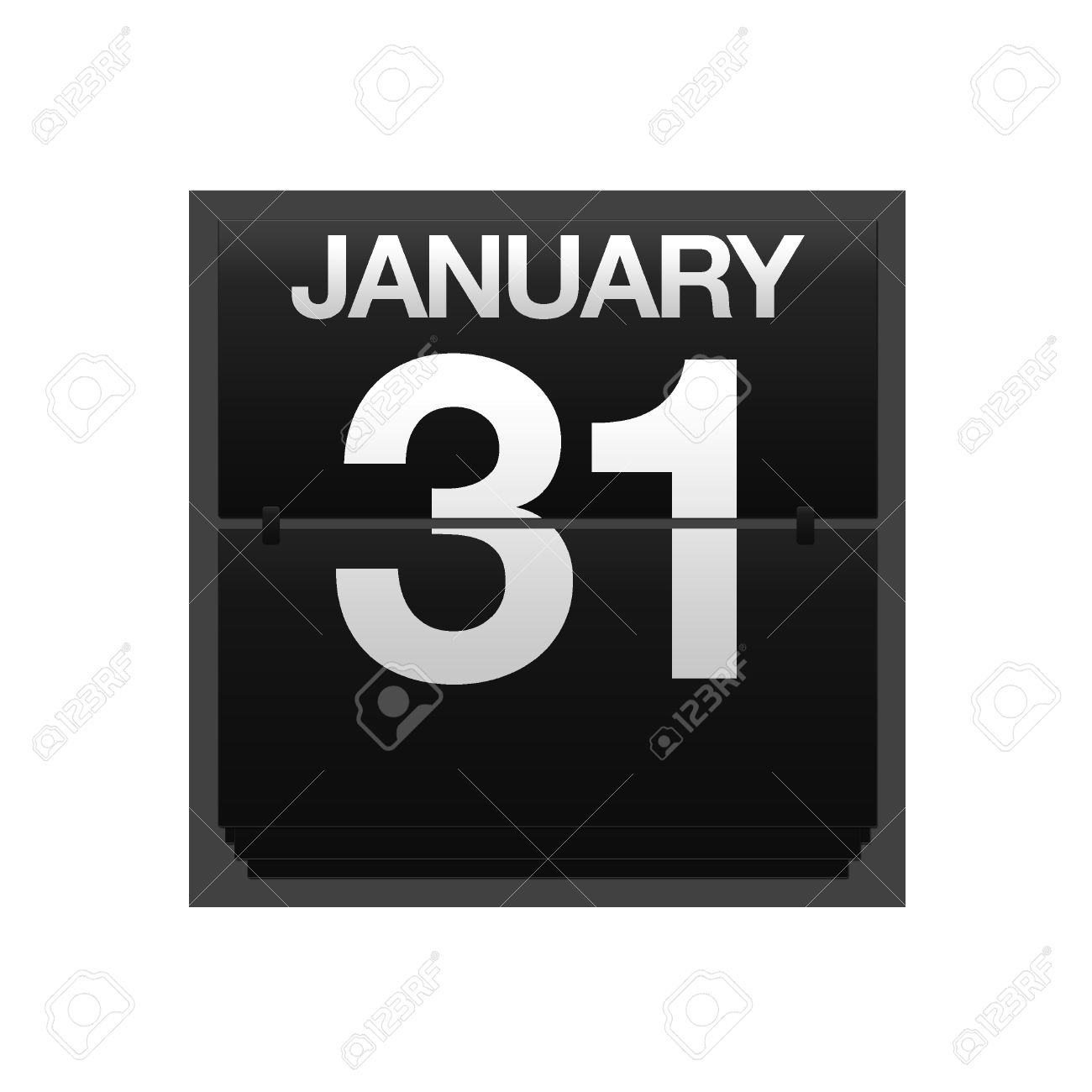 January 31 calendar clipart vector transparent download Illustration With A Counter Calendar January 31 Stock Photo ... vector transparent download