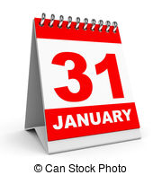 January 31 calendar clipart png freeuse stock Calendar on white background 31 january Clipart and Stock ... png freeuse stock