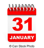 January 31 calendar clipart picture free stock Calendar on white background 31 january Clipart and Stock ... picture free stock
