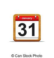January 31 calendar clipart clip stock Calendar on white background 31 january Clipart and Stock ... clip stock
