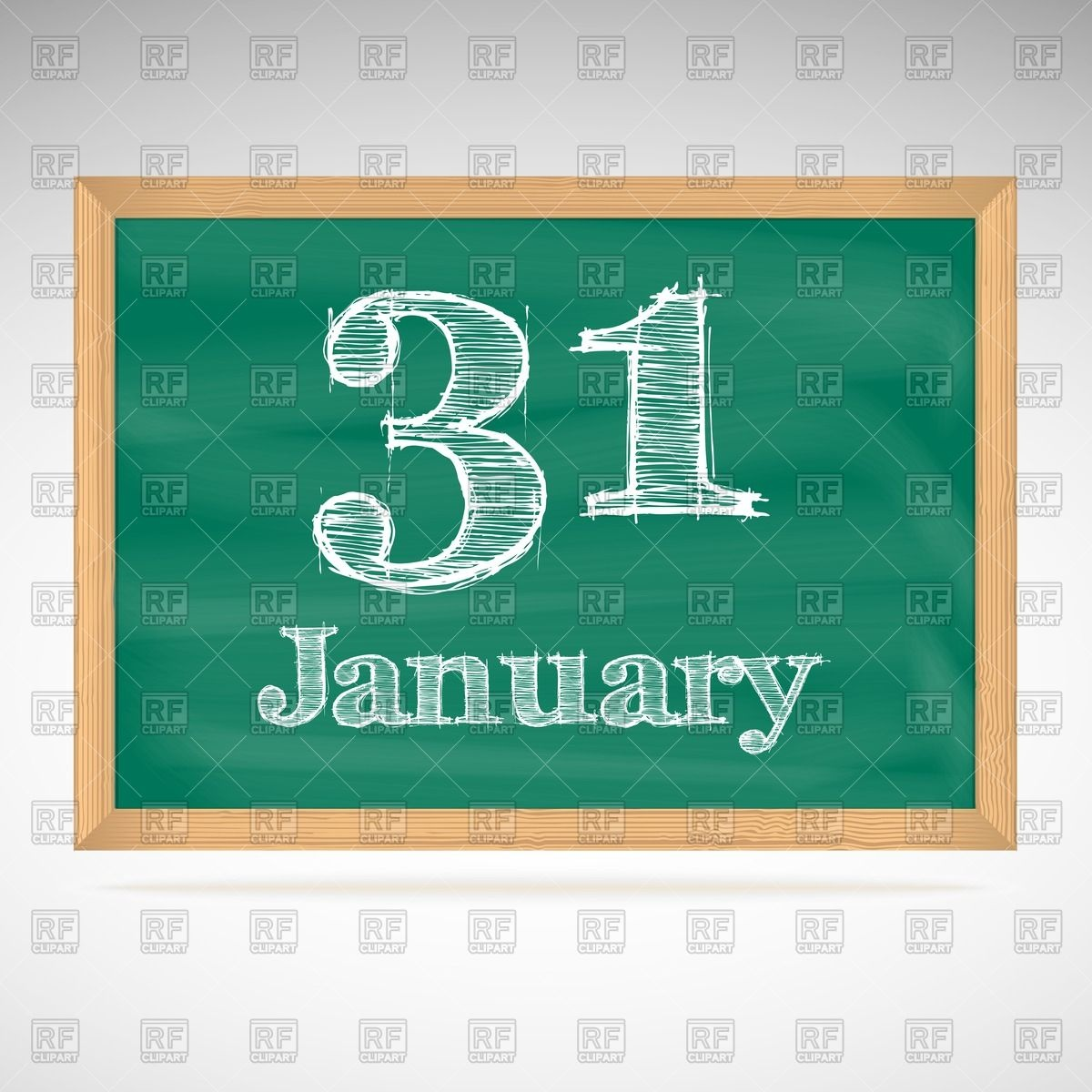 January 31 calendar clipart png royalty free library School chalkboard calendar with inscription in chalk January 31 ... png royalty free library